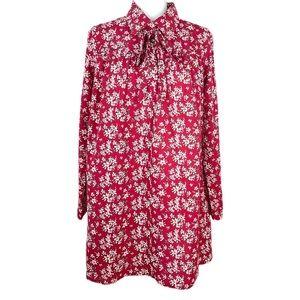 ASOS Glamorous Long Sleeved Shift Dress Sz 14